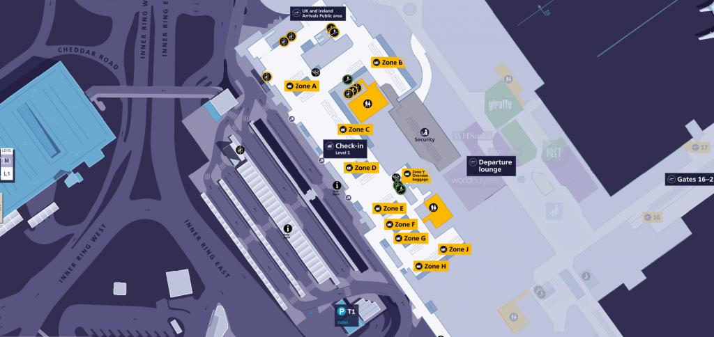 Heathrow Terminal 1 Map