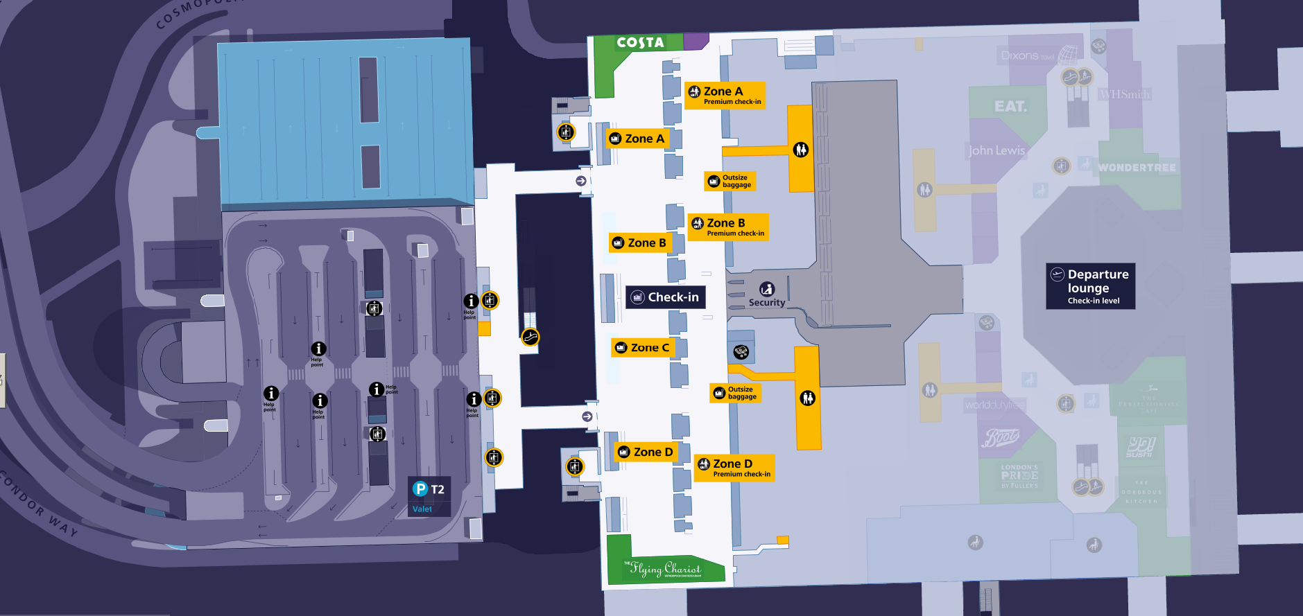 Heathrow Terminal 2 Map TERMINAL 2 MAP » Heathrow Taxis