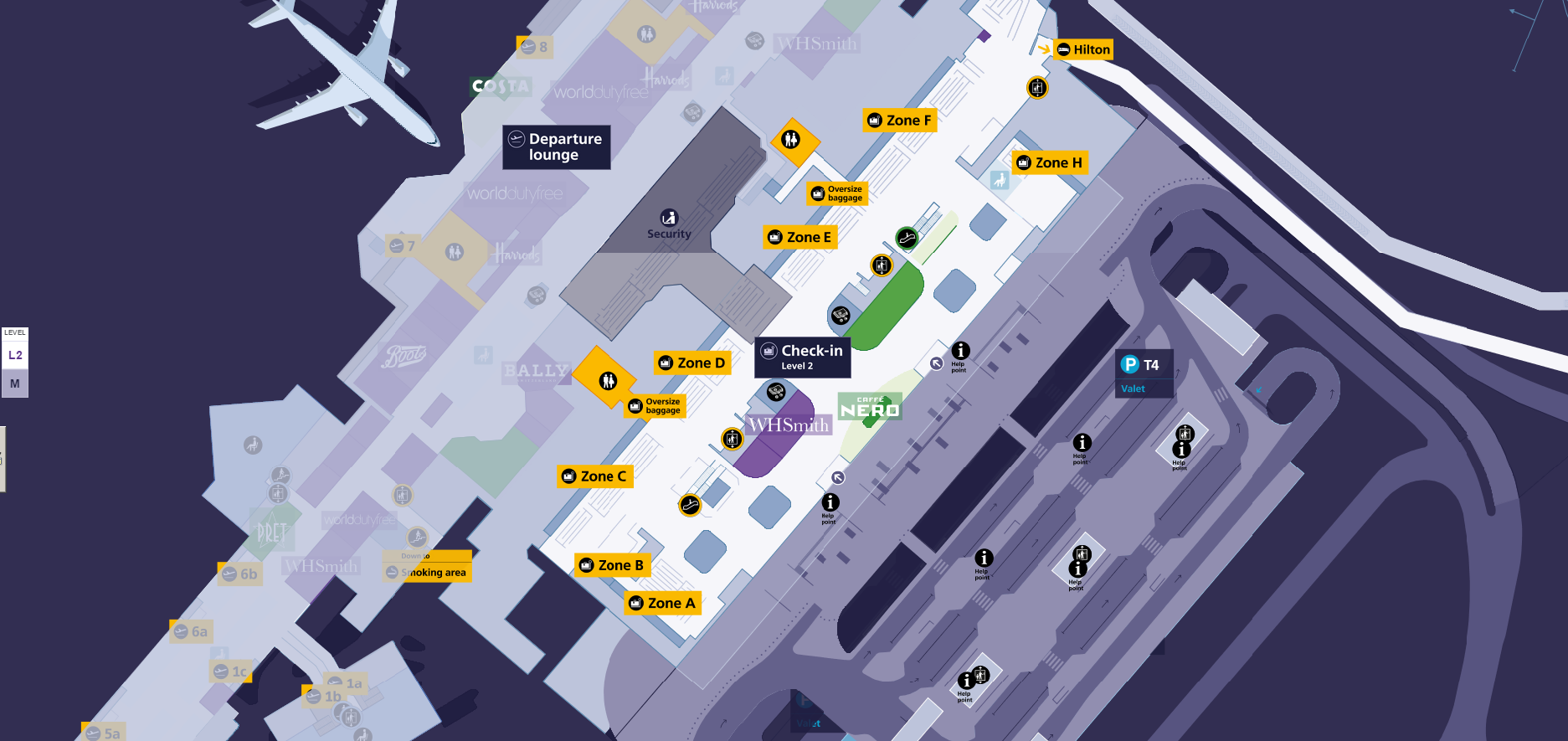 Terminal 4 Map Heathrow Taxis